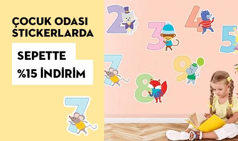 Çocuk Odalarınızı Stickerlarla Yenileyin