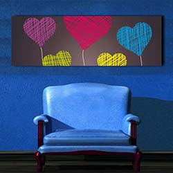 Diamonds Canvas DC5 Tablo - 90x30 cm