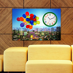 Move Canvas Tablo Saat 6 - 60x40 cm