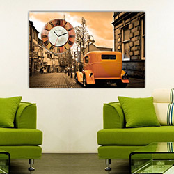 Move Canvas Tablo Saat 15 - 60x40 cm