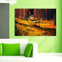 Move Canvas Tablo Saat 25 - 60x40 cm
