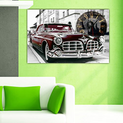 Move Canvas Tablo Saat 31 - 60x40 cm