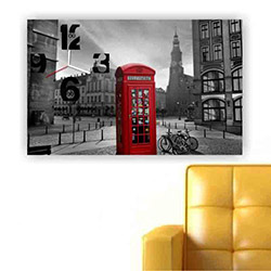 Move Canvas Tablo Saat 44 - 60x40 cm