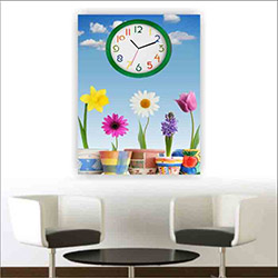 Move Canvas Tablo Saat 53 - 60x40 cm