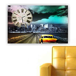 Move Canvas Tablo Saat 59 - 60x40 cm