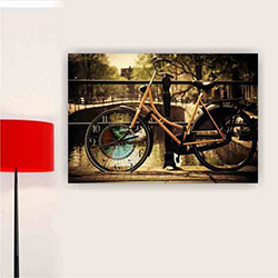 Move Canvas Tablo Saat 62 - 60x40 cm
