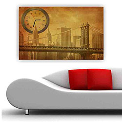 Move Canvas Tablo Saat 64 - 60x40 cm