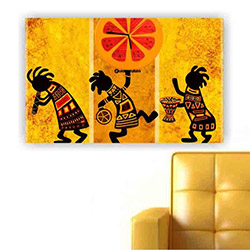 Move Canvas Tablo Saat 65 - 60x40 cm