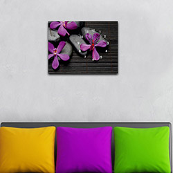 Decorange Kanvas Tablo Saat 27 - 29x40 cm