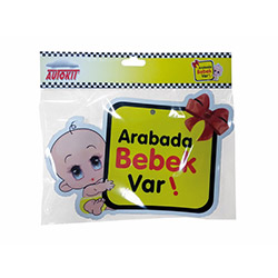 Arabada Bebek Var Oto Sticker