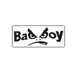 Turpex Bad Boy Yazı Araba Oto Sticker - 3 cm x 6 cm