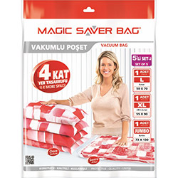 Magic Saver Bag 5'li Bagaj Vakumlu Poşet Seti 2