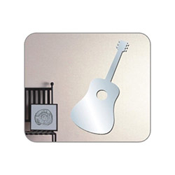 Bosphorus Gitar Aynalı Sticker - 15x34 cm