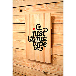 Oldwooddesign Just My Type Tablo - 35x50 cm