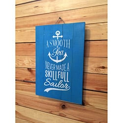 Oldwooddesign A Smooth Sea Tablo - 35x50 cm