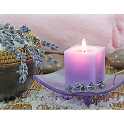 Duvar Tasarım DLC 1002 Candle Led Canvas Tablo - 70x50 cm