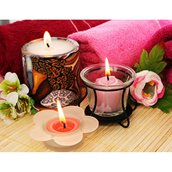 Duvar Tasarım DLC 1010 Candle Led Canvas Tablo - 70x50 cm