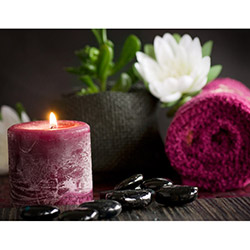 Duvar Tasarım DLC 1014 Candle Led Canvas Tablo - 70x50 cm