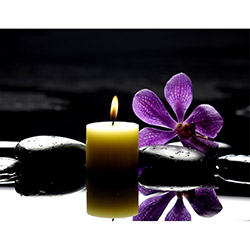 Duvar Tasarım DLC 1015 Candle Led Canvas Tablo - 70x50 cm