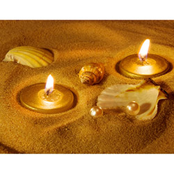 Duvar Tasarım DLC 1018 Candle Led Canvas Tablo - 70x50 cm
