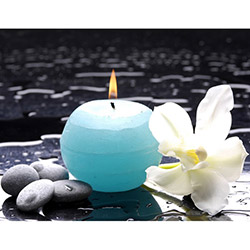 Duvar Tasarım DLC 1023 Candle Led Canvas Tablo - 70x50 cm