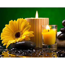 Duvar Tasarım DLC 1026 Candle Led Canvas Tablo - 70x50 cm