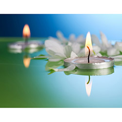 Duvar Tasarım DLC 1027 Candle Led Canvas Tablo - 70x50 cm