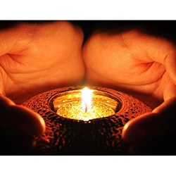 Duvar Tasarım DLC 1031 Candle Led Canvas Tablo - 70x50 cm