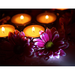 Duvar Tasarım DLC 1032 Candle Led Canvas Tablo - 70x50 cm