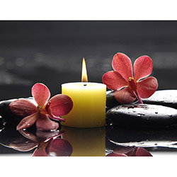 Duvar Tasarım DLC 1035 Candle Led Canvas Tablo - 70x50 cm