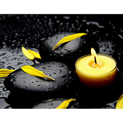 Duvar Tasarım DLC 1041 Candle Led Canvas Tablo - 70x50 cm