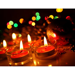 Duvar Tasarım DLC 1052 Candle Led Canvas Tablo - 70x50 cm