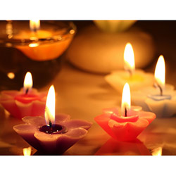 Duvar Tasarım DLC 1053 Candle Led Canvas Tablo - 70x50 cm