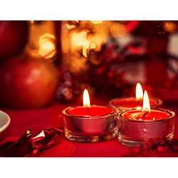 Duvar Tasarım DLC 1054 Candle Led Canvas Tablo - 70x50 cm
