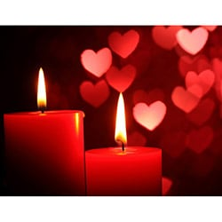 Duvar Tasarım DLC 1055 Candle Led Canvas Tablo - 70x50 cm