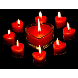 Duvar Tasarım DLC 1057 Candle Led Canvas Tablo - 70x50 cm