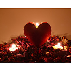 Duvar Tasarım DLC 1058 Candle Led Canvas Tablo - 70x50 cm