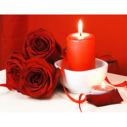 Duvar Tasarım DLC 1059 Candle Led Canvas Tablo - 70x50 cm