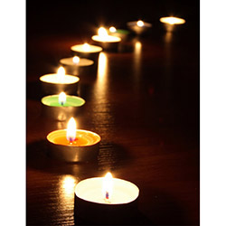 Duvar Tasarım DLC 1061 Candle Led Canvas Tablo - 70x50 cm