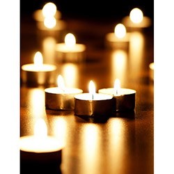 Duvar Tasarım DLC 1063 Candle Led Canvas Tablo - 70x50 cm