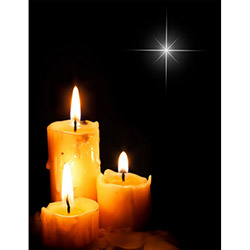 Duvar Tasarım DLC 1064 Candle Led Canvas Tablo - 70x50 cm
