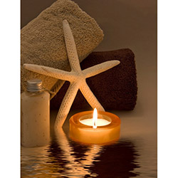 Duvar Tasarım DLC 1068 Candle Led Canvas Tablo - 70x50 cm