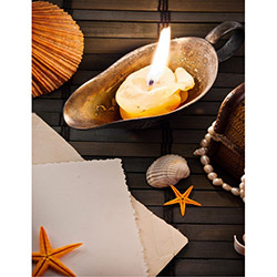Duvar Tasarım DLC 1070 Candle Led Canvas Tablo - 70x50 cm