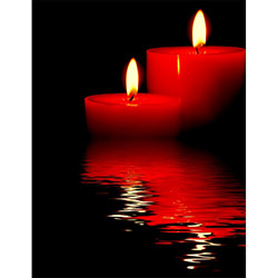 Duvar Tasarım DLC 1073 Candle Led Canvas Tablo - 70x50 cm