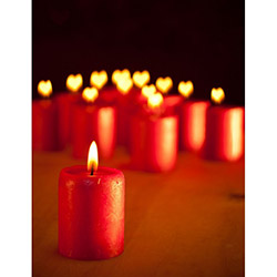 Duvar Tasarım DLC 1074 Candle Led Canvas Tablo - 70x50 cm