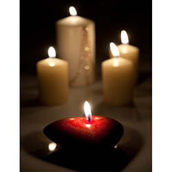 Duvar Tasarım DLC 1075 Candle Led Canvas Tablo - 70x50 cm