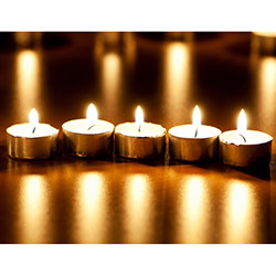 Duvar Tasarım DLC 1079 Candle Led Canvas Tablo - 70x50 cm