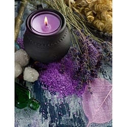 Duvar Tasarım DLC 1080 Candle Led Canvas Tablo - 70x50 cm