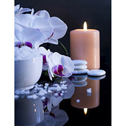 Duvar Tasarım DLC 1082 Candle Led Canvas Tablo - 70x50 cm