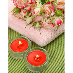 Duvar Tasarım DLC 1088 Candle Led Canvas Tablo - 70x50 cm